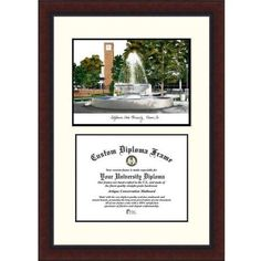 Cal State Fresno 8.5 inch x 11 inch Legacy Scholar Diploma Frame, Multicolor