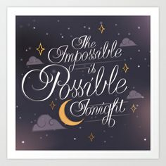 The Impossible Is Possible Tonight | Smashing Pumpkins Art Print by Aaron Bowersock - $16.95