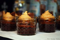 Peanut Butter Cup Brownies In A Jar