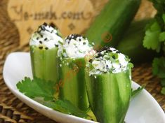 Cucumber Cups Stuffed With Cheese Recipe | Recipes (From Turkish Cuisine) In English