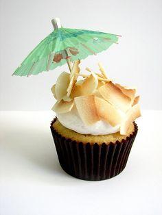 Piña Colada Cupcake by IndulgeDesserts, via Flickr