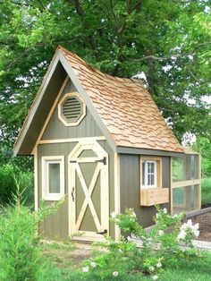 A chicken coop.  I think I want to raise chickens. Maybe. It'd be a cute playhouse anyways.