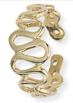 9ct Gold Toe Ring with Undulating Pattern H007