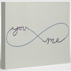 I think this would look great with the bride and groom name in it as well.  Love the infinity!