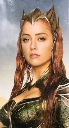 We've seen plenty of the main Justice League team members recently, but this latest promo image for the film gives us a stunning new look at Amber Heard as the future Queen of Atlantis, Mera. Comics Universe, Dc Heroes, Marvel Dc Comics, Comic Character, Cosplay Girls, Justice League, Supergirl, Portraits, Wonder Woman