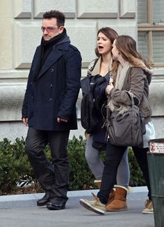 Jordan Hewson in Bono And His Daughters Out For A Walk In New York
