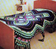 Vintage Crochet Pattern PDF   Afghan Throw Blanket Bedspread Retro 1970s.  via Etsy $ Pattern ~ Beautiful, I love it!
