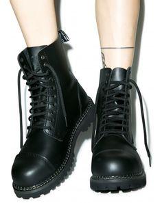 #DollsKill #FuckYerGender #photoshoot #lookbook #Grinders Stag #boots #black