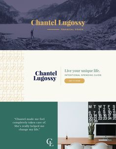 Brand design by Function Creative Co. for financial coach, Chantel Lugossy