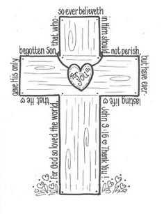 JOHN 3:16 'CROSS' - TeachersPayTeachers.com