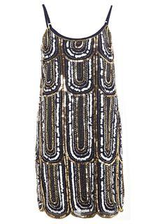 65ef18d5c9b0 Miss selfridge 1920s deco dress Art Deco Kleid