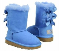 light blue uggs with bows