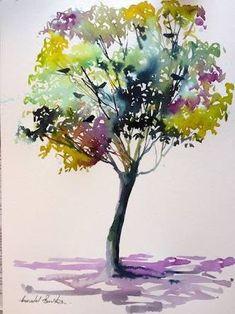 Résultats de recherche d'images pour «easy watercolor paintings of trees»