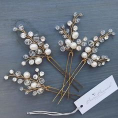 Wire wrapped hair pins. #hairpin #hairvine #haircomb #weddinginspiration #bridallook #bridalaccessories