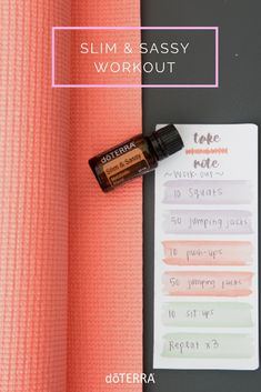Sometimes you need to mix up your exercise routine. We have made this easy at home Slim & Sassy workout. Add 3-4 drops to your water while you workout to help promote a healthy metabolism.