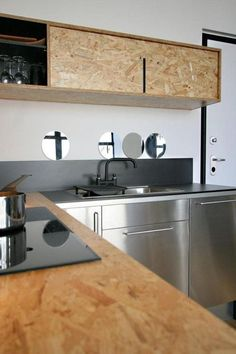 Charles Ray and Coco - blog deco et design - wood kitchen osb