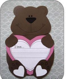 valentine day bear craft (1)