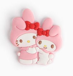 A sweet and gentle hug - #HelloKitty and #MyMelody