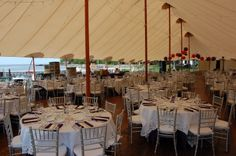 Wedding tent at Bayview Resort & Harbor. Wedding planning courtesy of Door County Event Planners. August 2013.