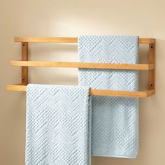 Featuring three bars to hold your linens, the Veska Bamboo Mounted Towel Rack is an eco-friendly addition to your bathroom. Designed to give your bathroom a polished look, this product is easy to install. Towel Rack Bathroom, Wood Bathroom, Bathroom Flooring, Bathroom Furniture, Bathroom Storage, Small Bathroom, Diy Furniture, Neutral Bathroom, Bathroom Ideas