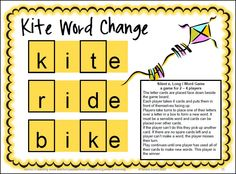 A challenging game that really makes them think for silent e long i words! Silent e Board Games by Games 4 Learning is a collection of 25 printable board games to practice reading, identifying and creating words with silent e inlcuding a_e, i_e, o_e and u_e. $