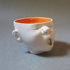 Baby Head Cup w/Nosering by SusanKniffinDavidson on Etsy