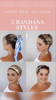 Bandana Hairstyles Short, Undercut Hairstyles Women, Short Hair Undercut, Braids For Short Hair, Headband Hairstyles, Headbands For Short Hair, Haircuts, Short Hair With Layers, Short Hair Cuts