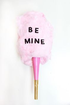 cotton candy valentine, be mine valentine, candy valentine gifts, cotton candy conversation hearts
