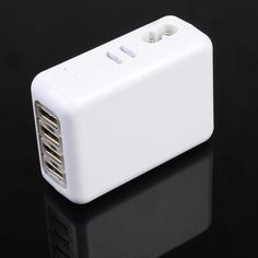 2A US/AU/EU/UK 4 Port USB Portable Wall Charger AC Adapter. Description Feature: * This 4 port USB wall charger can be used to power up to 4 devices at one time. * It is lightweight and its removable 2 prong adapter make it great when you're on the go. * Can be used to charge Cell Phones,Digital Camera Batteries,MP3 Players or any other USB powered devices. Portable: for travel Provides standard USB 5V at up to 2A (max) Power and charge up to 4 USB powered devices with the proper USB…