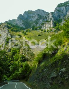 road trhough Picos de Europa in northern Spain royalty-free stock photo