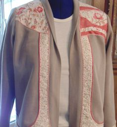 Debbie created this great sweatshirt jacket using Londa's Genesis Plus Talking Pattern while at a workshop at Jan's Pins & Needles in Middleburg Heights, OH - Sept. 15.