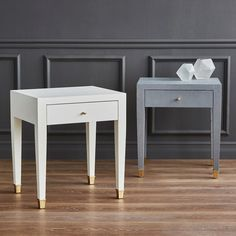 Claudette 1-Drawer Side Table, Gray - Bungalow 5  22Wx18Dx25H