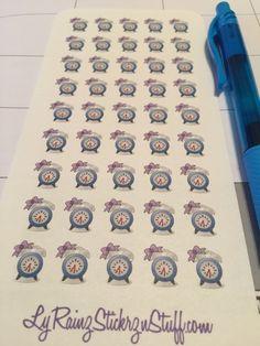 45 Small Alarm Clocks for Passion Planner, Erin Condren by LyRainzStickrzNStuff on Etsy