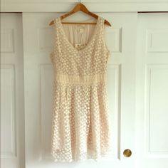 Natural Floral Overlay Dress