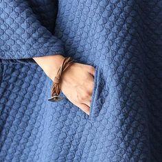 Cotton Bat Sleeve Cardigan Orange Jacket