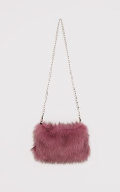 Rose Faux Fur Chain Shoulder Bag Add a statement finishing touch to your look with this fierce a. Cute Mini Backpacks, Stylish Backpacks, Girl Backpacks, Diaper Bag Backpack, Diaper Bags, Buy Backpack, Sacs Design, Bag Women, Vanessa Jackman