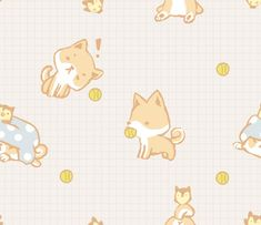 shiba inu tile-able background