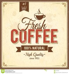Vintage Coffee Poster With Grunge Effects Royalty Free Stock ...
