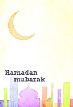 Free Printable Ramadan Card - Ramadan mubarak
