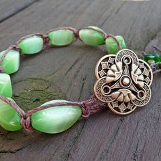 Hey, I found this really awesome Etsy listing at http://www.etsy.com/listing/96120776/lime-green-bracelet-brown-hemp-macrame