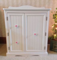 Doll wardrobe armoire  for 18 American Girl doll by BedsandThreads