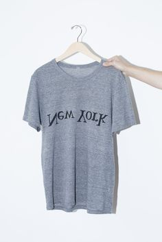 """Assembly Cotton New York Logo T-Shirt - Crewneck tee with screen-printed, inverted logo at front - Garment runs slim, we suggest sizing up - Made in New York Measurements: SMALL Chest - 17"""" Shoulder t"""