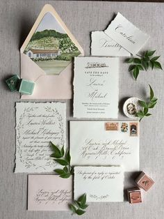 Stationery by chez la mariée, photo and styling by Christine Doneé, florals by Ellamah
