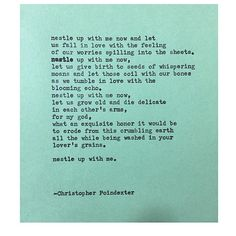 Remington Typewriter Poetry.