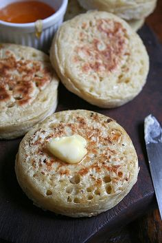 homemade crumpets & melting butter