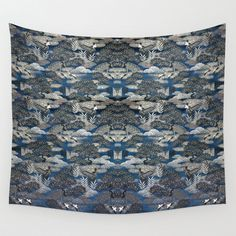 Wall Tapestry - Art Tapestry 51x60 / Japanese Brocade Design/ Large Wall Hanging #ExclusiveCustomDesignCustomMade #WallTapestryWallHanging