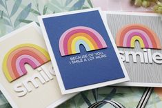 Cute Cards, Diy Cards, Rainbow Project, Rainbow Card, Rainbow Connection, Mft Stamps, Die Cut Cards, Scrapbook Cards, Scrapbooking