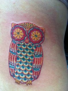Ok I have that tattoo but I don't think this is mine as it looks like someones side not my arm...Trippin out !