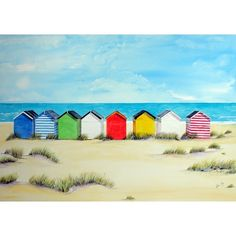 Southwold Beach Huts by Lynette Merry @ Mini Gallery - Watercolour Painting