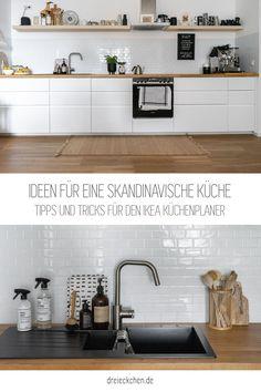 Inspirationen, Tipps und Tricks für den Ikea Küchenplaner Küchen Design, Tricks, Kitchen Cabinets, Home Decor, Kitchen Without Wall Cabinets, Open Plan Kitchen, Small Condo, Kitchen Dining Rooms, Countertop